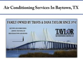 Air Conditioning Services In Baytown, TX