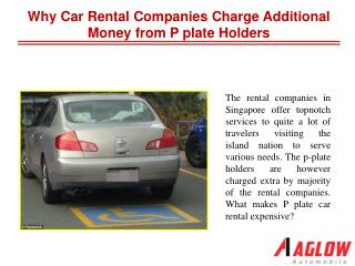 Why car rental companies charge additional money from P plat