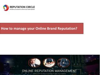 How to manage your Online Brand Reputation?