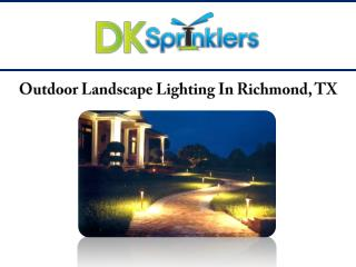 Outdoor Landscape Lighting In Richmond, TX
