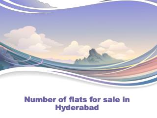 Number of flats for sale in Hyderabad
