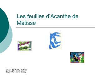 Les feuilles d Acanthe de Matisse