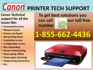 Get Canon Printer Technical (1-855-662-4436) Support Number