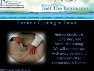 Furniture Cleaning in Tucson