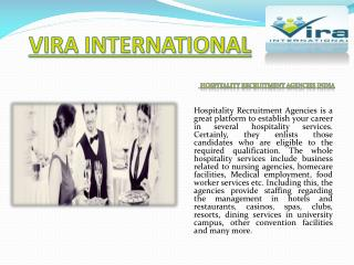 Hospitality Recruitment Agencies India