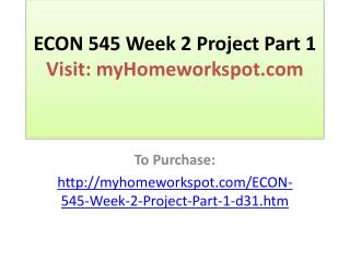 ECON 545 Week 2 Project Part 1