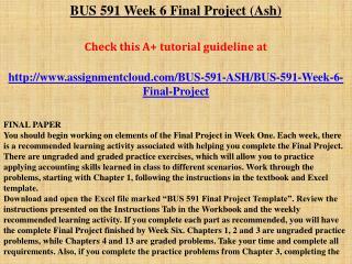 BUS 591 Week 6 Final Project (Ash)