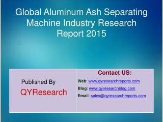 Global Aluminum Ash Separating Machine Industry 2015 Market