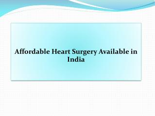 Affordable Heart Surgery in India