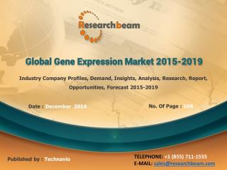 Global Gene Expression Market Analysis, 2015-2019