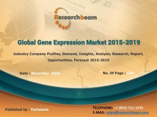 Global Gene Expression Market Analysis, 2015-2019