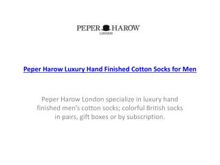 Peper Harow Luxury Hand Finished Cotton Socks for Men