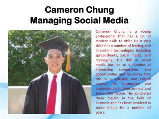 Cameron Chung Managing Social Media