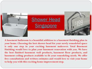 Shower Head Singapore