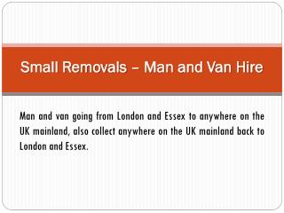 Hire Man with a Van Removal Services