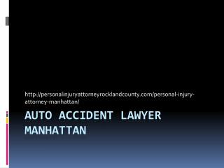 AUTO ACCIDENT LAWYER Manhattan