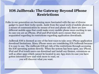 iOS 8 Jailbreak on Cellphone