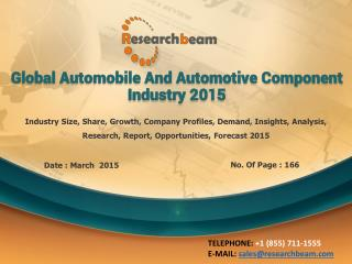 Growth of Automobile, Automotive Component Industry 2015