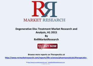 Degenerative Disc Disease – Pipeline Review, H1 2015