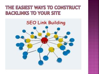 The easiest ways to construct backlinks to your site