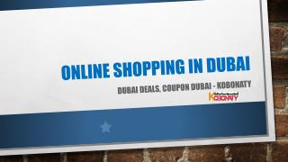 Coupon Dubai: Online Shopping