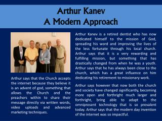 Arthur Kanev A Modern Approach