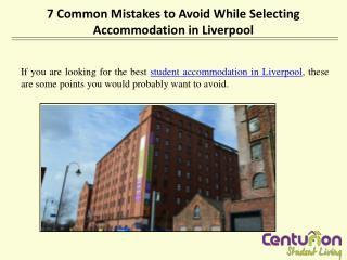 7 COMMON MISTAKES TO AVOID WHILE SELECTING ACCOMMODATION IN