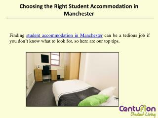 CHOOSING THE RIGHT STUDENT ACCOMMODATION IN MANCHESTER