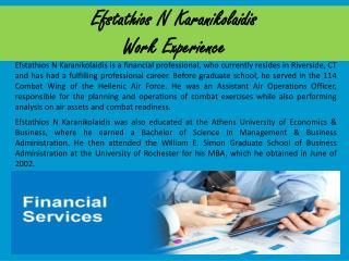 Efstathios N Karanikolaidis Work Experience