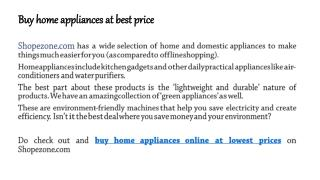 Buy home appliances, Buy kitchen appliances, Buy Home decor