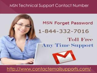 MSN Technical Support 1-844-332-7016 Telephone Number