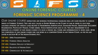 SIFS - INSTITUTE FOR FORENSIC SCIENCE AND CRIMINOLOGY
