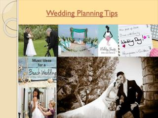 Wedding Planning and Preparations Tips