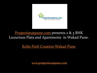 Kolte Patil Creation Wakad Pune , 2/3 bhk flats for sale