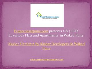 Akshar Elementa Wakad Pune by Akshar Developers