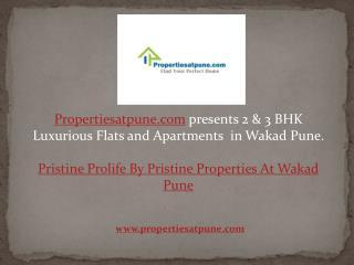 Pristine ProlifWakad Pune By Pristine Properties, 2/3bhk