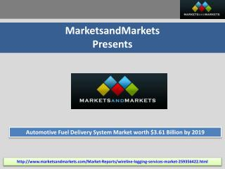 Automotive Fuel Delivery System Market  - 2019