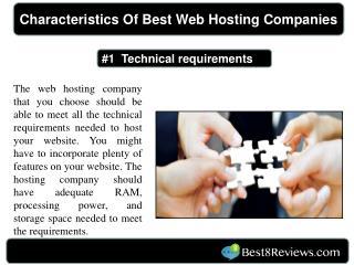 Characteristics Of Best Web Hosting Companies