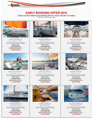 Last Minute Charter Special Offer!