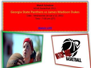 Watch Exciting Georgia State Panthers vs James Madison Dukes