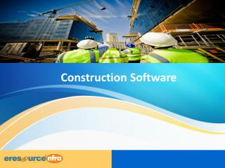 ERP software for Construction