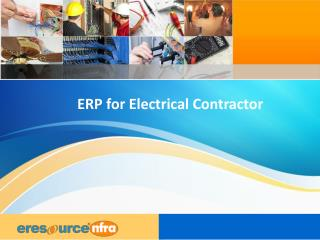 erp for electrical contractor