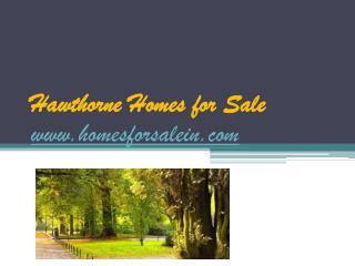 Hawthorne Homes for Sale - www.homesforsalein.com