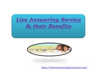 Live Answering Service & their Benefits