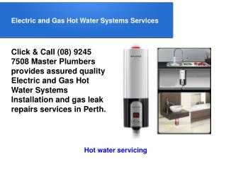 Gas Hot Water Systems Services