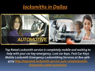 Locksmiths in Dallas