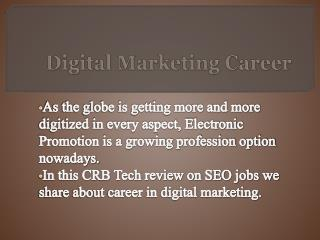 CRB TECH Reviews on Digital Marketing Career
