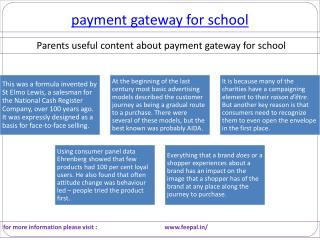 Best Source of payment gateway for school