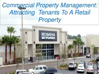 Commercial Property Management: Attracting Tenants