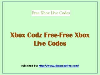 Xbox Codz Free-Free Xbox Live Codes